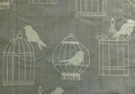 "Vintage Shabby Chic Linen Birdcage Cushion Cover 14"" 16"" 18"" 20"""